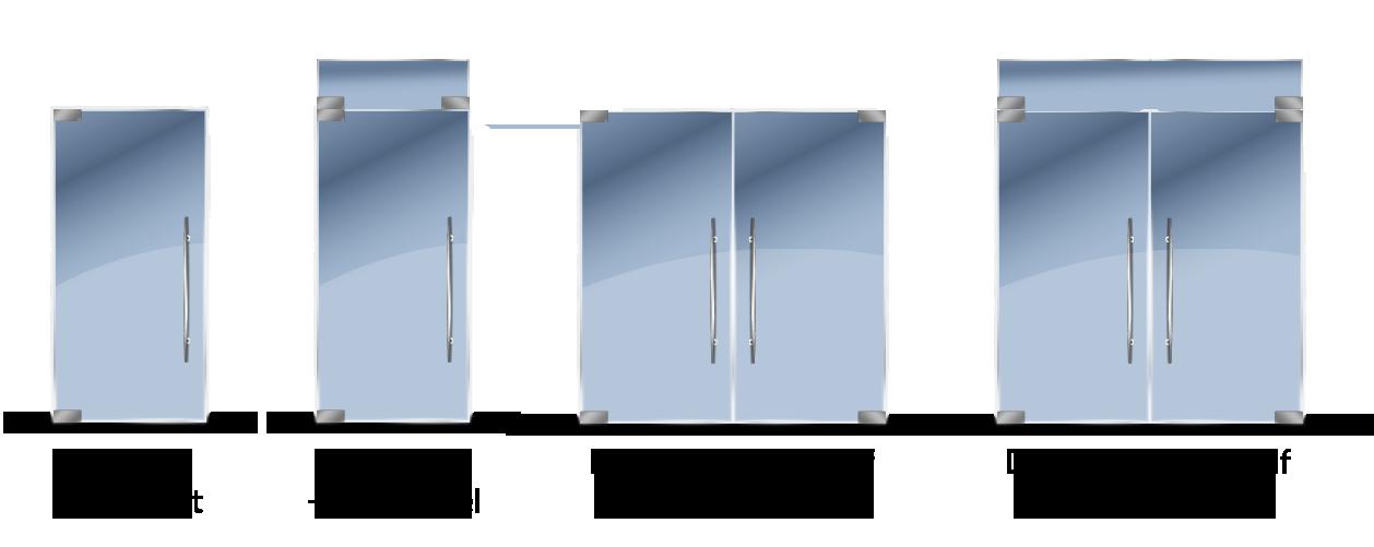 glass sliding door configuration